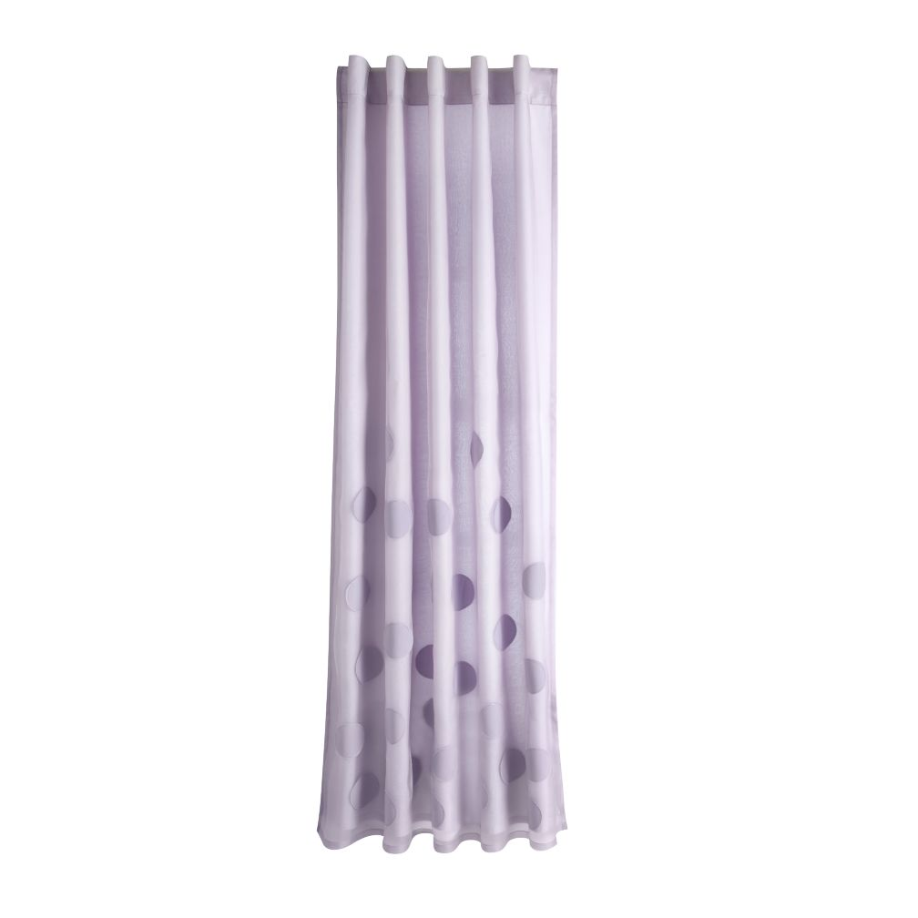 "63"" Tiny Bubbles Curtain Panel (Lavender)"